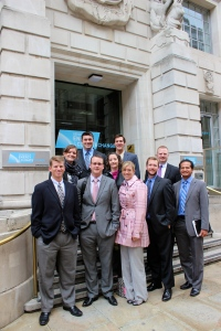 This photo was taken during the 2012 Special Topics course in London.