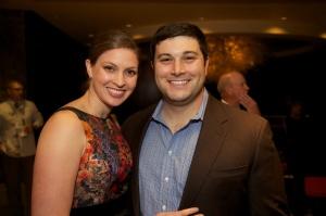 Greg Adam and his wife Audra Adam.
